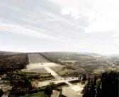 Vista aerea del Campo delle Pietre d'Italia verso il Sacrario Foto © DRONE REPORTAGE di Fabio Pappalettera